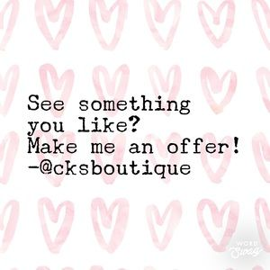 Other - Make me an offer! ❤️